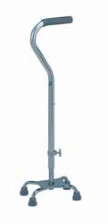 Carex Base Quad Cane with Offset Handle