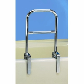 Carex Dual-Level Textured Grip Bathtub Rail