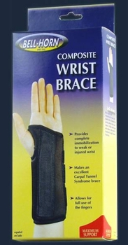 Composite Wrist Brace  Right Large  Wrist Circum: 7� - 8�