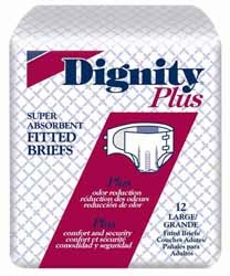Dignity Plus Adult Fitted Brief, Large 45-58 in. (Bag of 12)