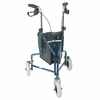 DMI 3-Wheel Steel Rollator, Royal Blue