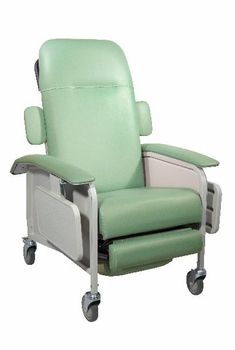 Drive Medical 3 Position Clinical Care Recliner in Jade