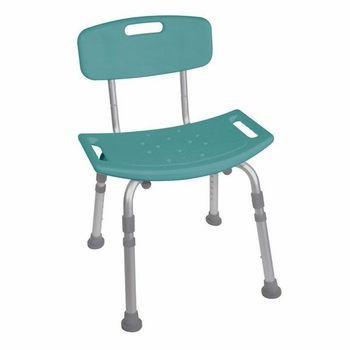 Drive Medical Bath Bench with Back in Teal
