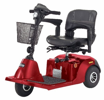 Drive Medical Daytona 3 GT 3 Wheel Medium Size Scooter in Red