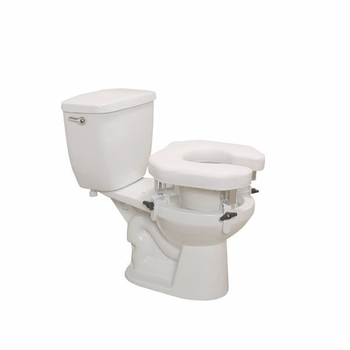 Drive Medical Padded Raised Toilet Seat with Four Locking Brackets