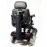 EZ-Access EZ0142BK Scooter Single Oxygen Tank Holder