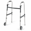 Invacare Dual Release Adult Walker with 5 in. fixed Wheels