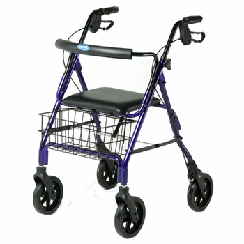 Invacare Economy Rollator with Curved Backrest, Blue