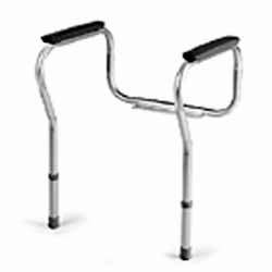 Invacare Toilet Safety Frames Chrome with Gray Pads, 1 Pair �