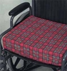 "Mabis Dmi Wheelchair Cushion Latex Poly Cotton Navy 3 ""X16 ""X18 """