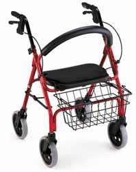Nova Get Go Super Lightweight 4-Wheeled Walker Blue Cap 300lb