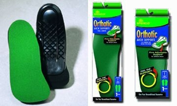 Orthotic Arch Supports Full Length Size: W 11-12 M 10-11