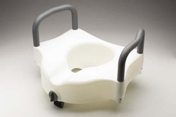 Raised Toilet Seat With Lock & Arms Guardian (30270A) Cs/3