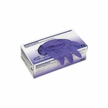 SafeSkin 55081 Purple Nitrile Exam Gloves-SM PF NS BX/100