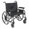 "Sentra 26""Heavy-Duty Wheelchair with Wide Detachable Full Arms, Seat Size: 26"""