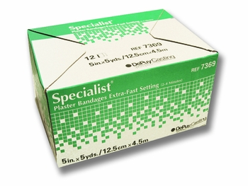 Specialist Plaster Bandages Fast Setting 5 x5yds (Box of 12)