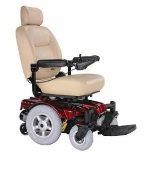 Sunfire Gladiator Power Chair with Captain Seat  M/W Drive  Red