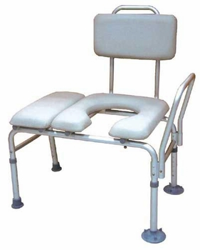 Transfer Bench & Commode Combination with Padded Seat