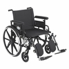 "Viper Plus GT 22"" Wheelchair Detachable Adjustable Full Arms and Elevating Legrest"