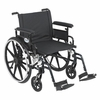 "Viper Plus GT 22"" Wheelchair Detachable Adjustable Full Arms and Swing-Away Footrest"