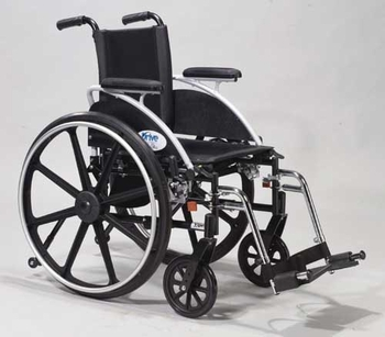 Wheelchair Ltwt Dlx  with SF with Flip-Back Rem Full Arms 18