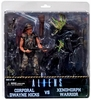 NECA Aliens Corporal Hicks v Battle Damaged Xenomorph Warrior Alien 2-Pack Action Figures