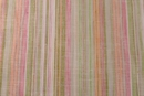 Metallic Gold Multi Stripe Linen Fabric