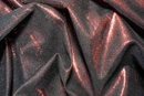 Metallic Stretch Mesh Fabric Red Black Sale