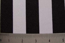 Nylon Spandex Stripes 4way Stretch Fabric 1inch Stripe Black White Sale