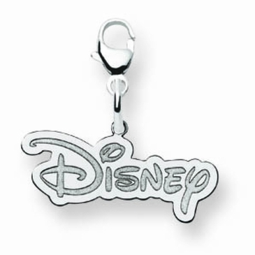 14k Gold Large Disney Logo Charm with Lobster Clasp