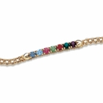 14K Gold Plated Birthstone Chain Bracelet