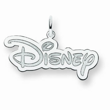 14k Gold Small Disney Logo Charm