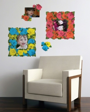 176 Roses Sticker Frames Peel & Place Wall Art