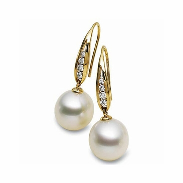 18K Yellow South Sea Pearl Earrings