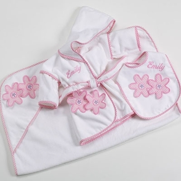 3-Piece Luxury Hooded Towel Set  (Personalized)