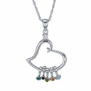 A Mother's Heart Birthstone Pendant Necklace