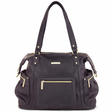 Abby Pebble Black Diaper Bag by Timi & Leslie