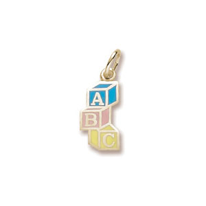 ABC Block Charm by Forever Charms - Personalized
