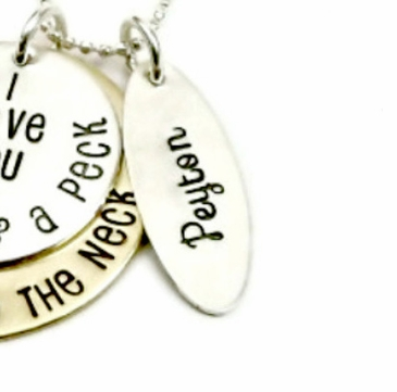 """Add Name Tag for """"Bushel and A Peck"""" Necklace"""