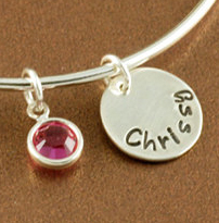 "Add Name Charm for ""Love you to the moon and back"" Bangle Bracelet"