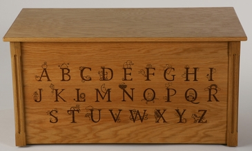 Alphabet Wooden Toy Chest