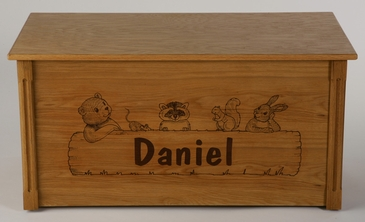 Animal Critters Wooden Toy Chest (Personalized)