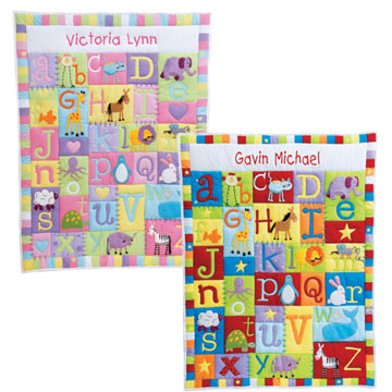 Animals and ABC's Baby Quilt