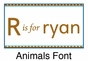 Animals Boy Growth Chart Personalized - click to Enlarge