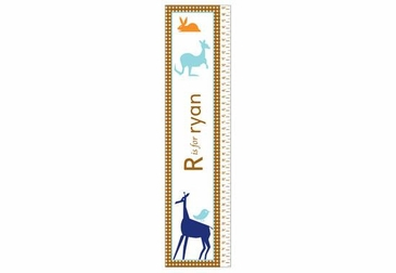 Animals Boy Growth Chart Personalized