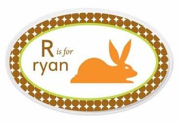 Animals Boy Oval Wall Plaque Personalized