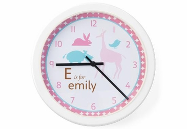 Animals Girl Clock Wall Art Personalized
