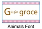 Animals Girl Growth Chart Personalized - click to Enlarge