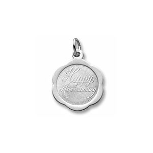 Anniversary Fluted Disc Charm by Forever Charms - Personalized