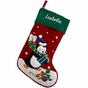 Appliqued Velveteen Christmas Stockings - click to Enlarge